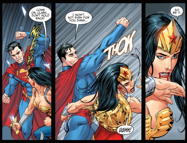superman vs wonder woman (injustice gods among us)