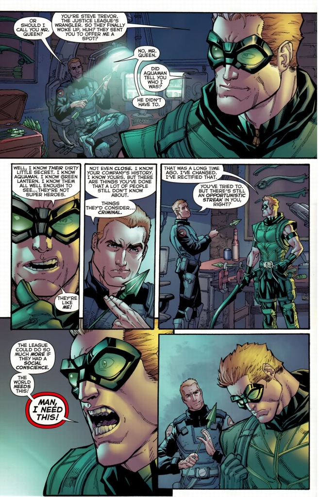 why green arrow wants to join the justice league