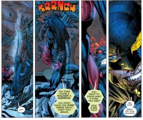 wonder woman rescues batman from wraith