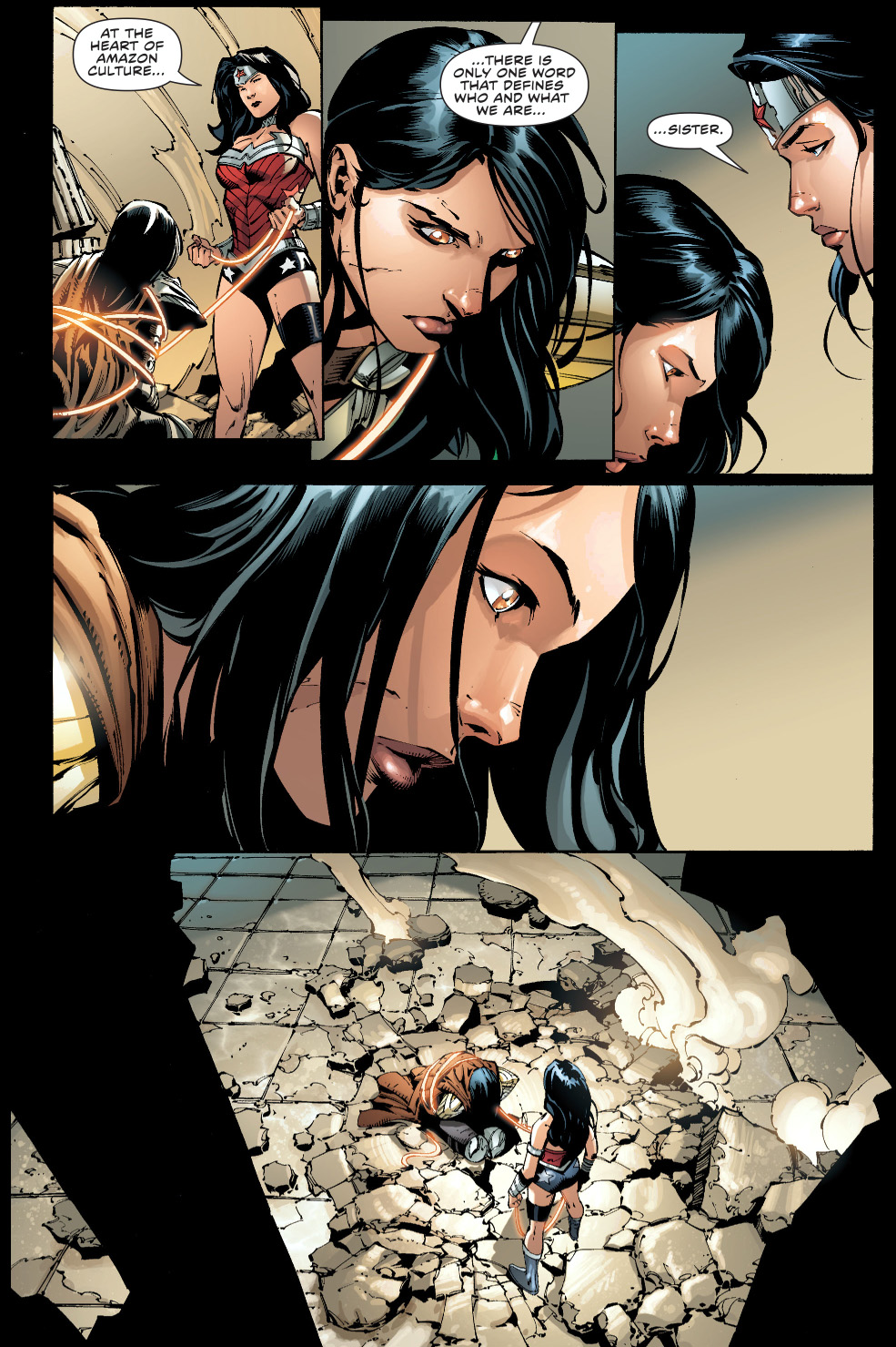 Jason Todd And Dick Grayson Wonder Woman Takes Dow...