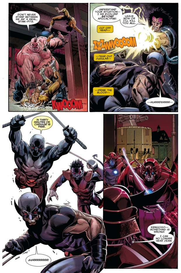 x-force and age of apocalypse x-men vs the black legion
