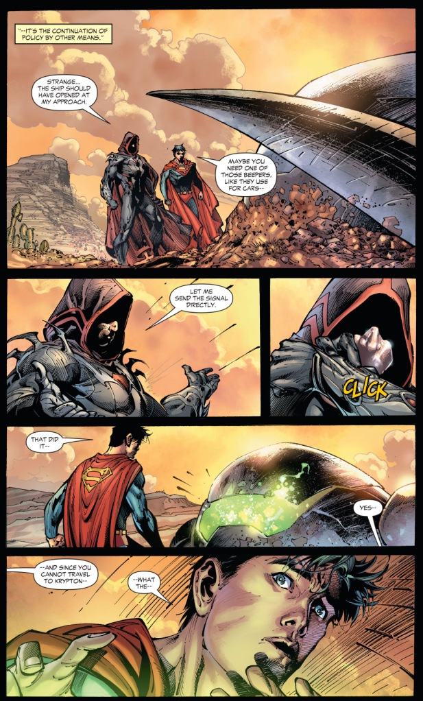 zod ambushes superman with kryptonite