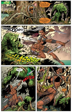aquaman and ya'wara vs swamp thing