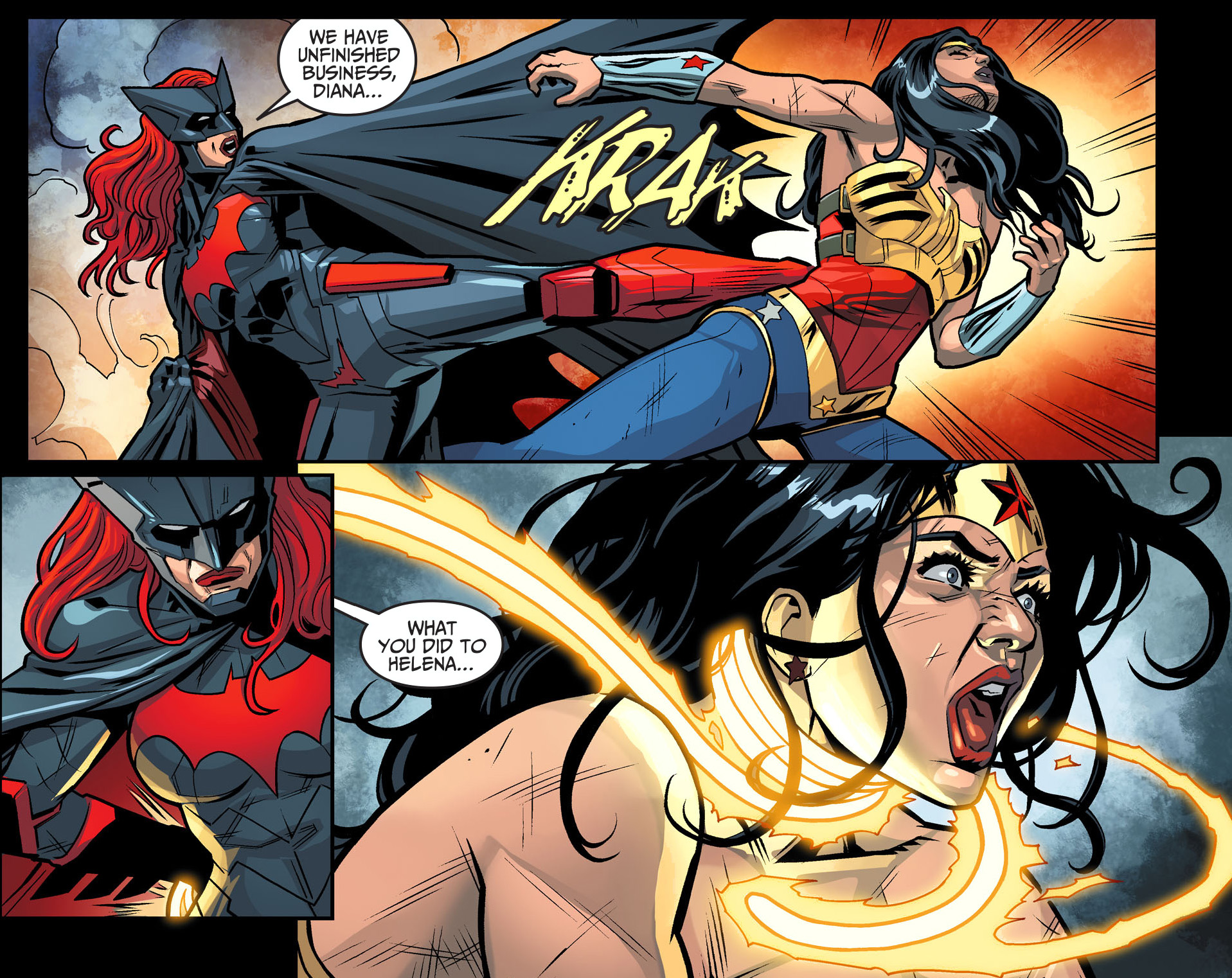 batwoman attacks wonder woman comicnewbies