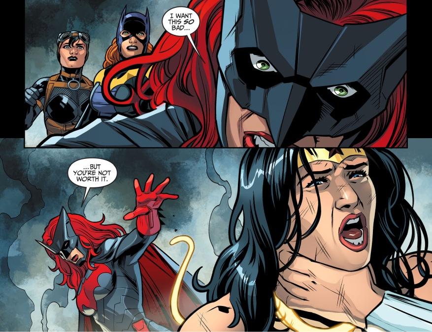 batwoman attacks wonder woman