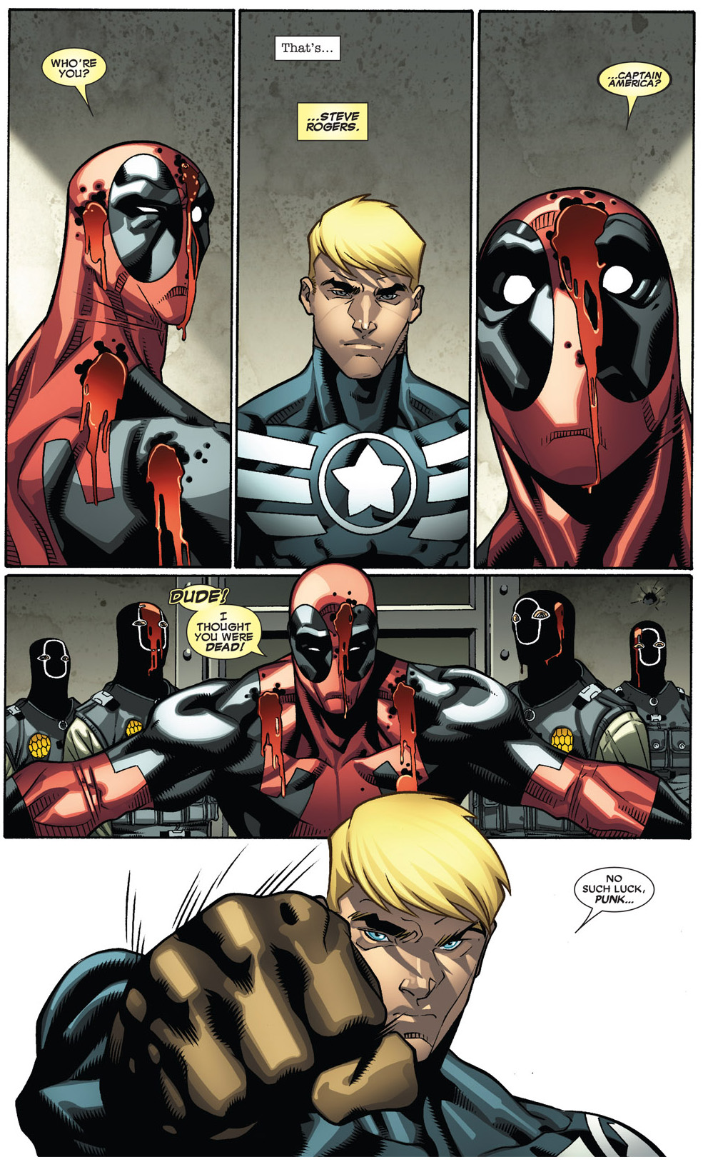 Captain America Punches Deadpool | Comicnewbies