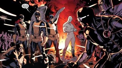 cyclops and magneto meets the original 5 x-men