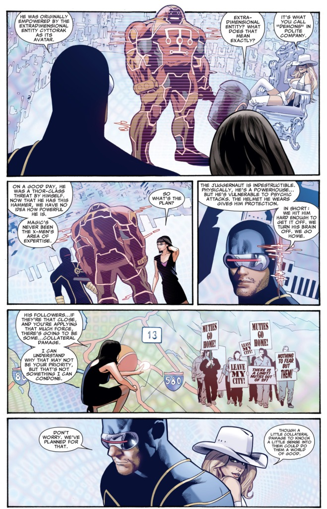 cyclops explains the juggernaut to mayor sinclair