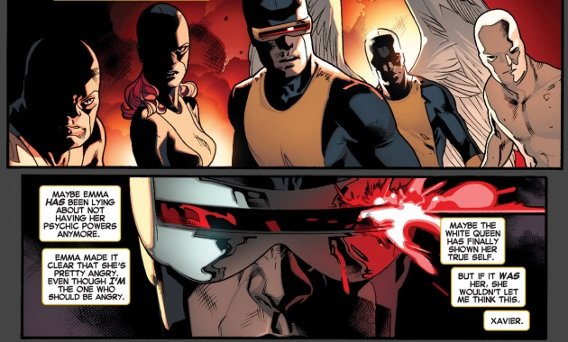 cyclops's thoughts on seeing his past self
