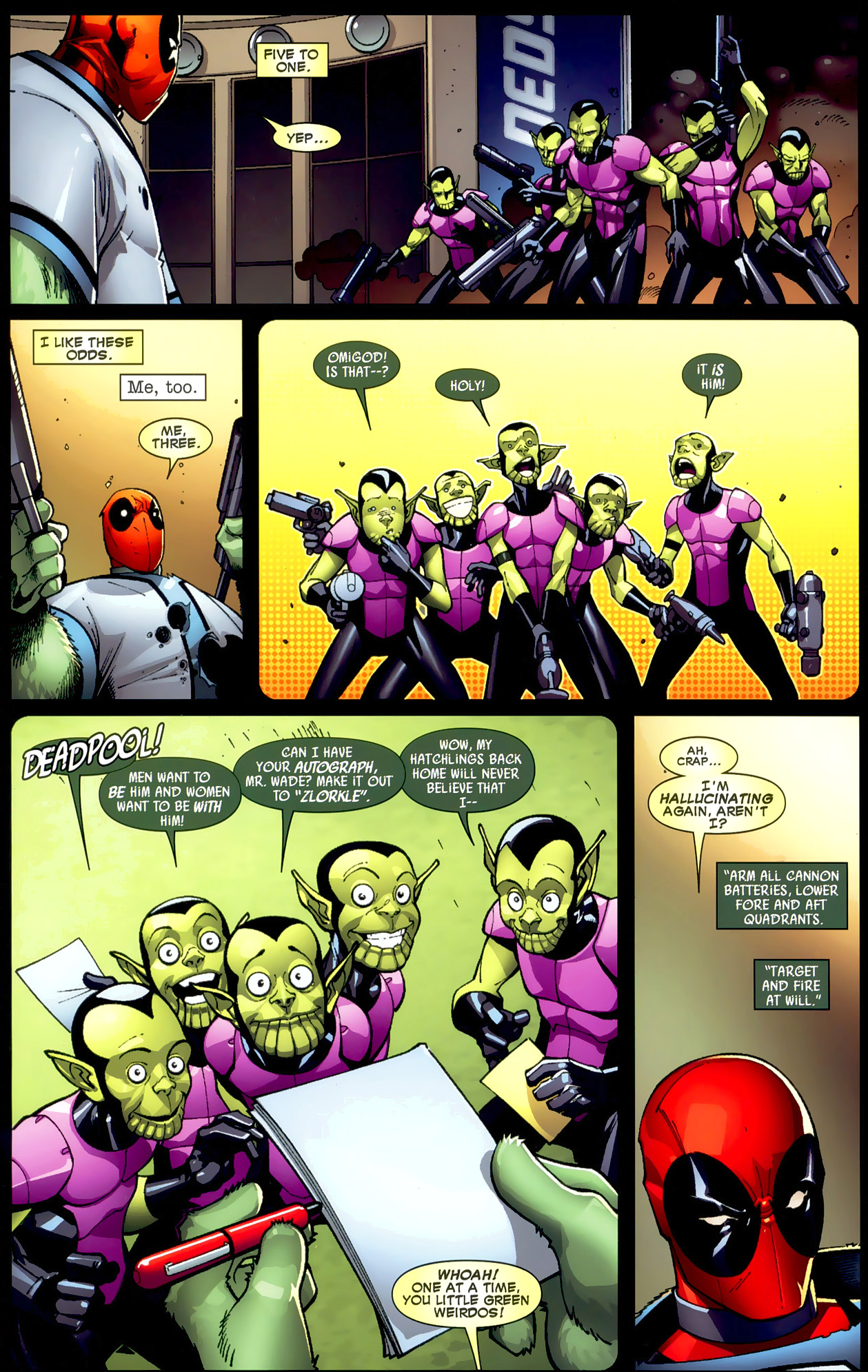 Deadpool VS Skrulls   Comicnewbies