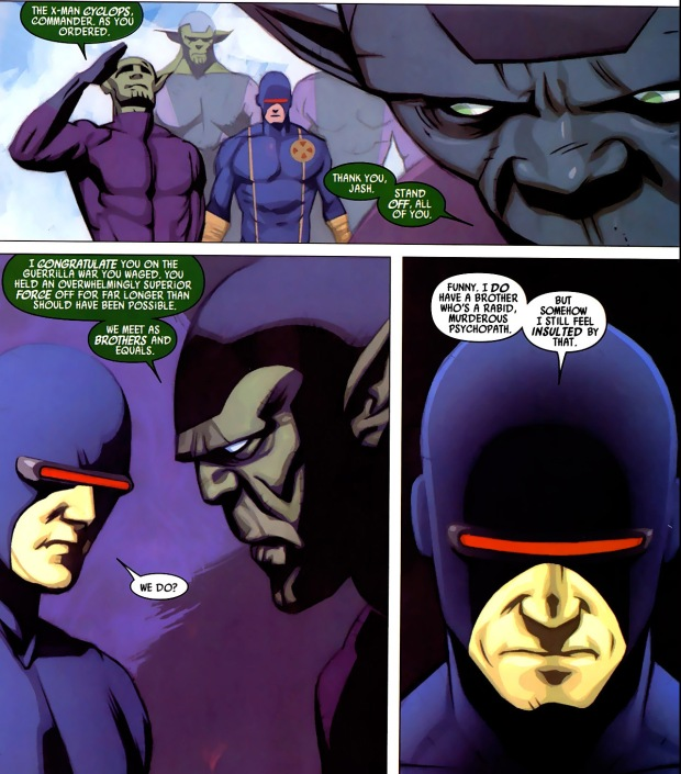 how cyclops took down the skrulls