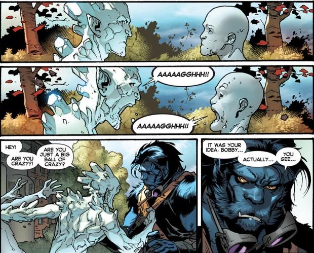 present iceman meets his past self