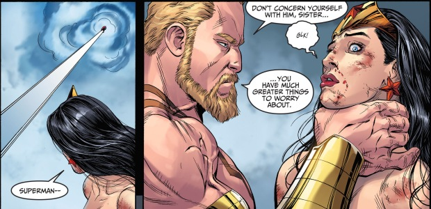 superman and wonder woman vs hercules (injustice gods among us)