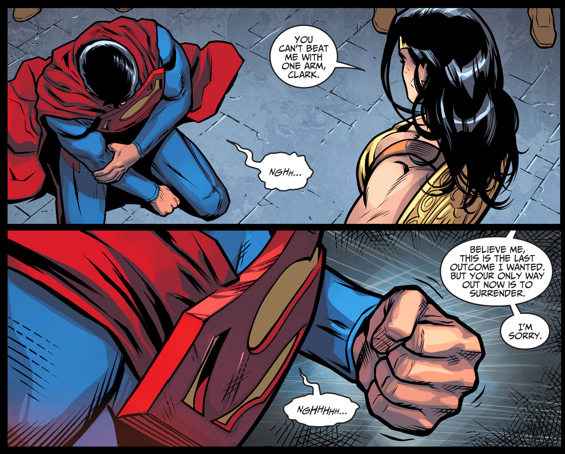 Superman Fights Wonder Woman With Only One Hand  Comicnewbies-4840