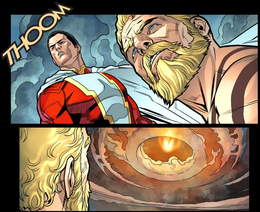 superman's outer space punch to hercules