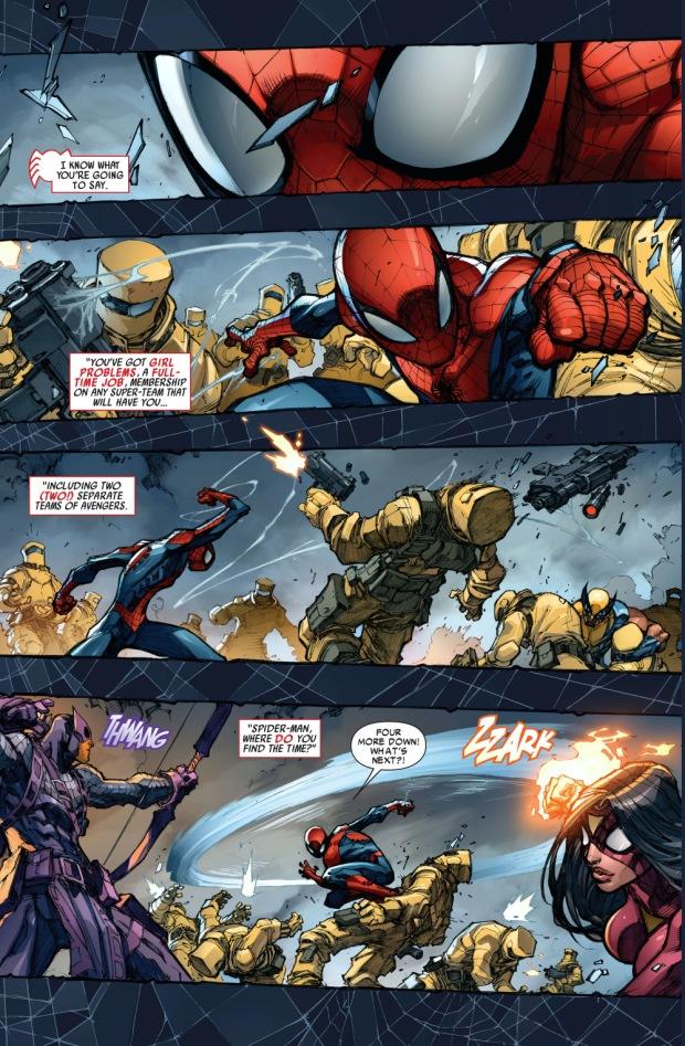 the avengers vs an aim robot
