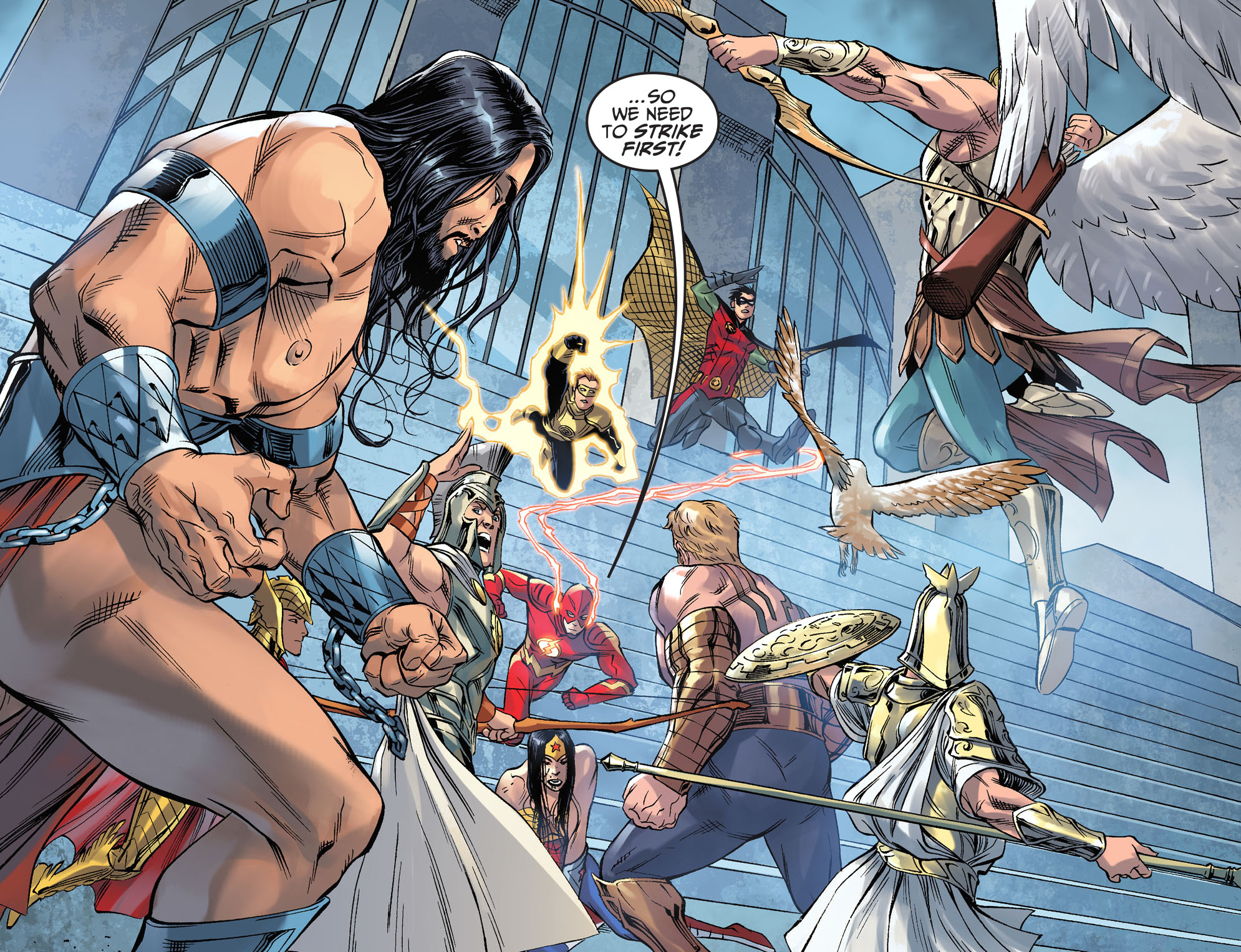 The Flash Takes On The Olympian Gods Comicnewbies