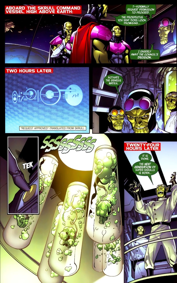 the skrulls create deadpool-type super-skrulls