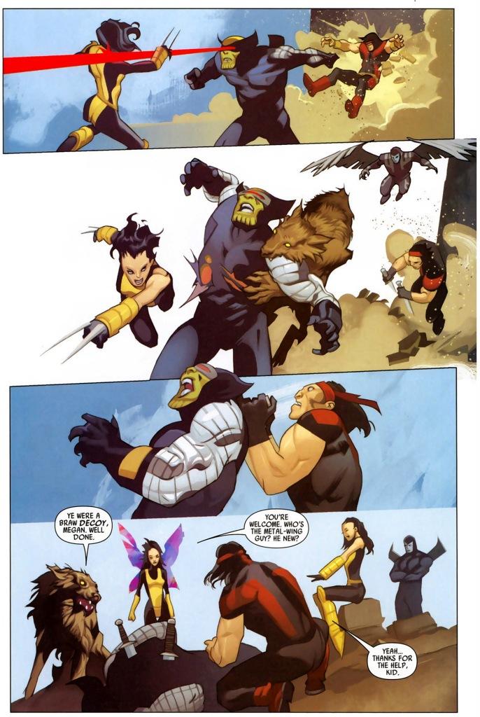 x-force ambushes a super-skrull