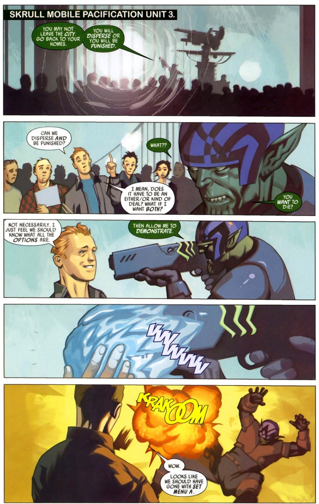x-men uses guerilla tactics against the skrulls