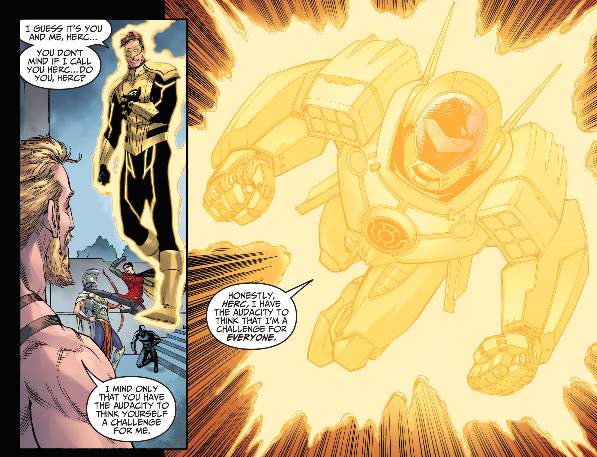 Yellow Lantern Hal Jordan VS Hercules | Comicnewbies