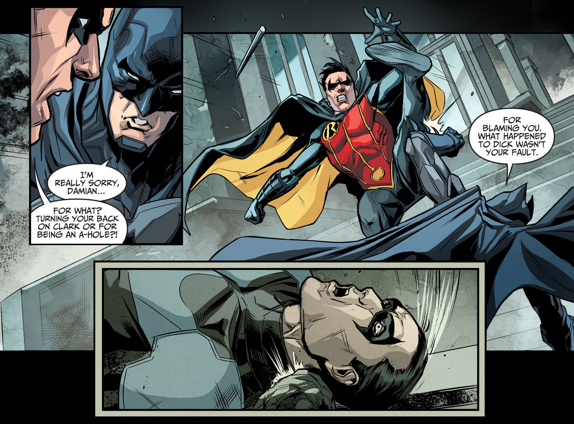 Batman VS Robin (Injustice Gods Among Us) | Comicnewbies Nightwing Injustice Comic