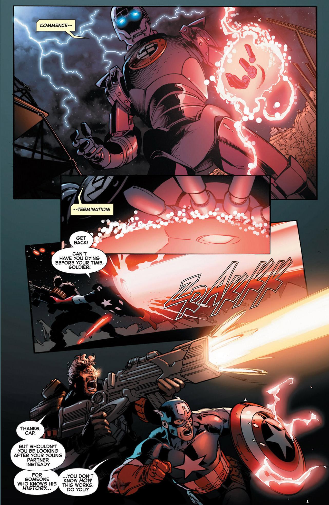 Captain America Bucky And Cable Vs A Nazi Sentinel