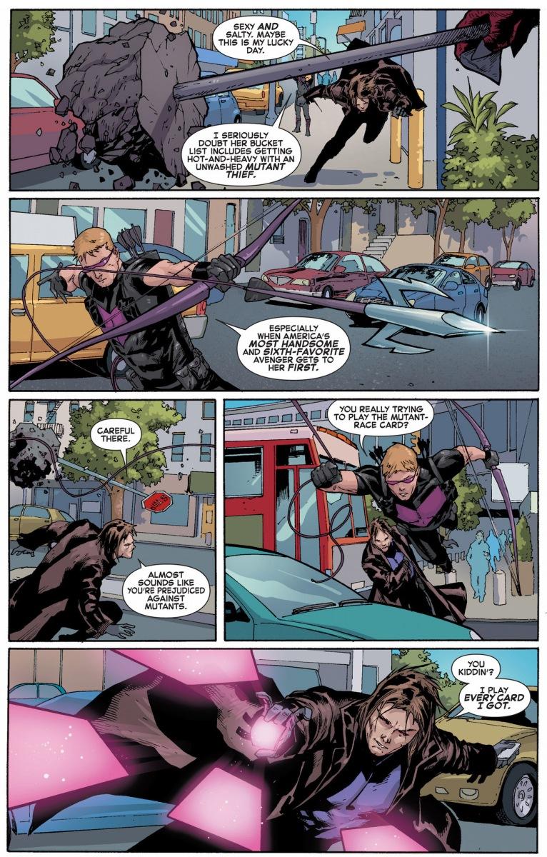 gambit and hawkeye vs an underground monster comicnewbies