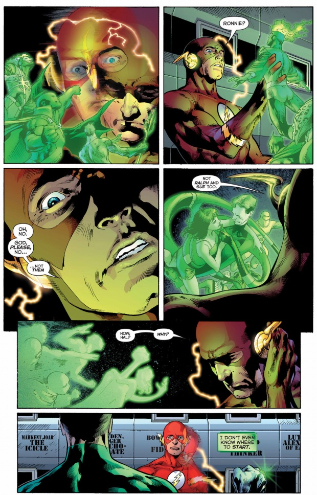 green lantern shows the flash everyone who died