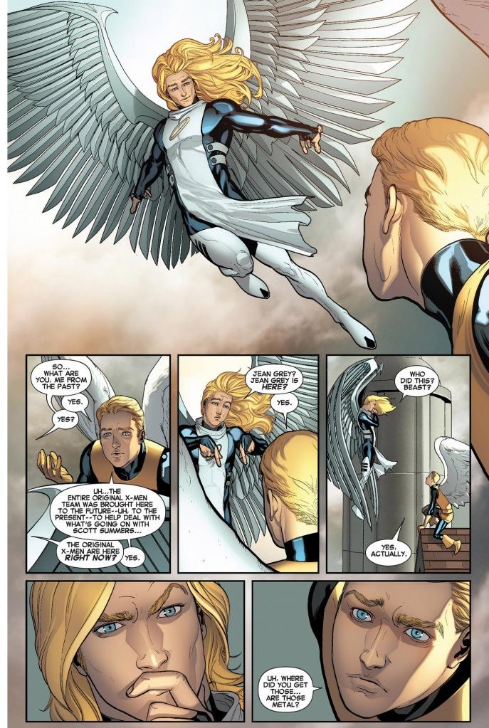 original 5 angel meets his present self