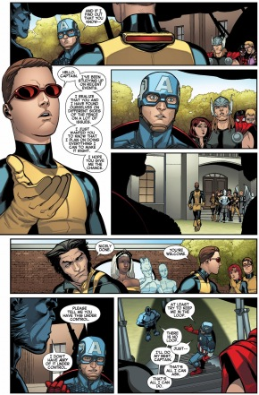 original 5 cyclops meets captain america