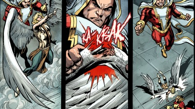 shazam breaks eros's wing