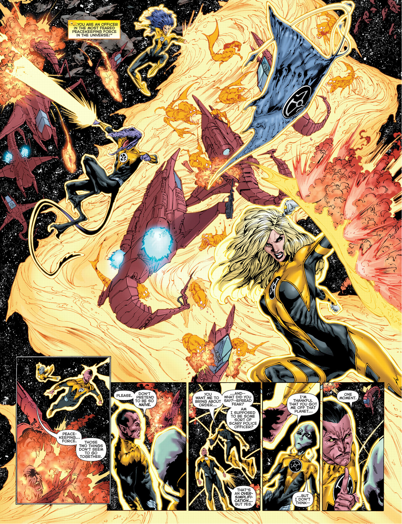 sinestro corps vs a i space pirates comicnewbies