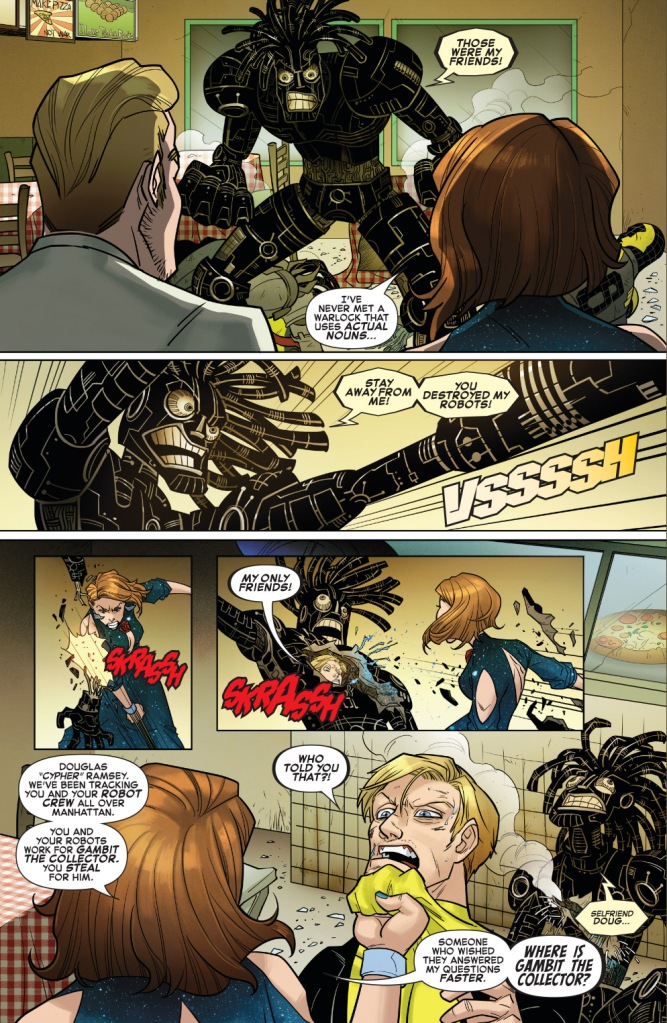 star-lord and kitty pryde vs the new mutdroids