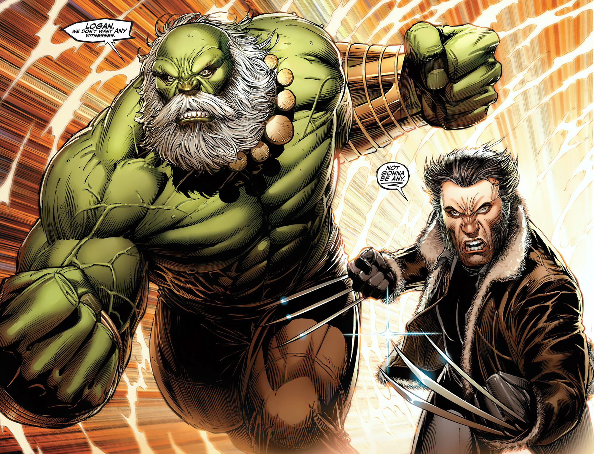 The hulk and wolverine vs their future selves comicnewbies
