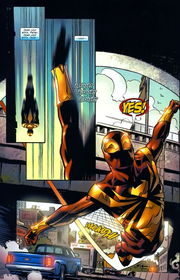 the iron spider suit can glide