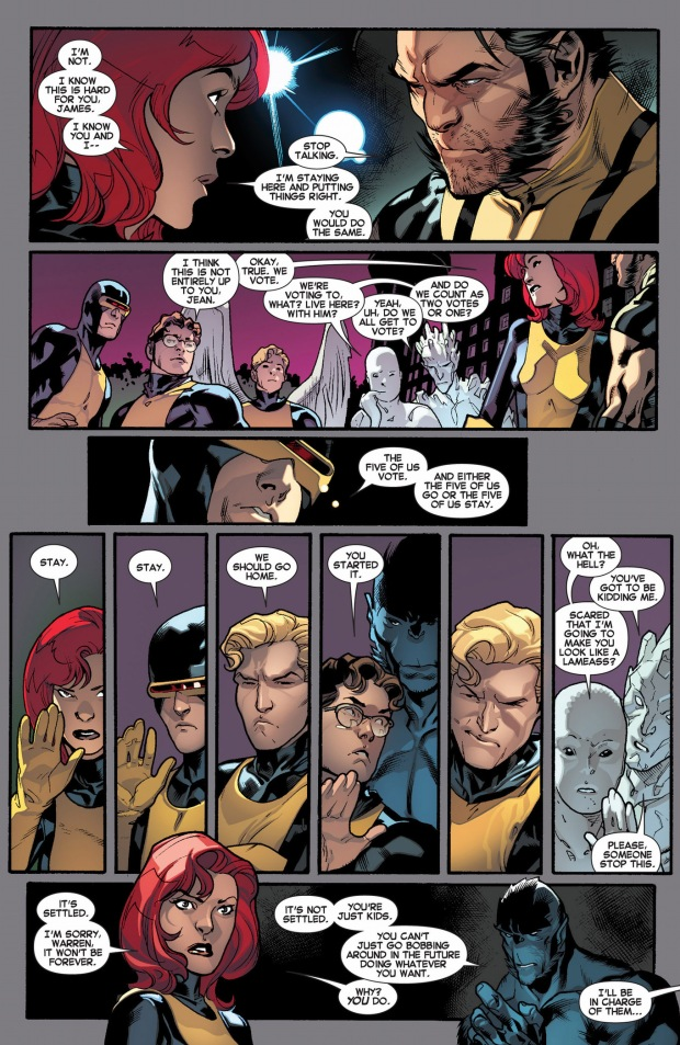 the original 5 x-men vote to stay