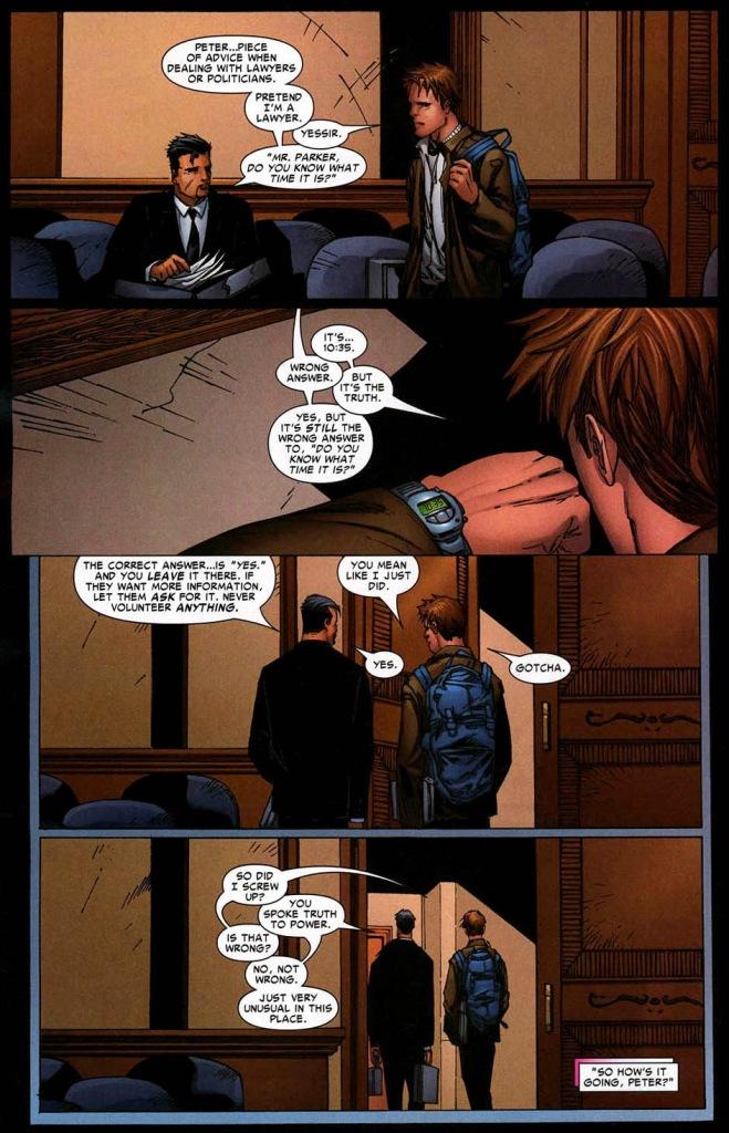 tony stark's advice on dealing with politicians