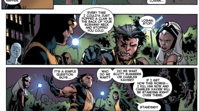 wolverine antagonizes original 5 cyclops