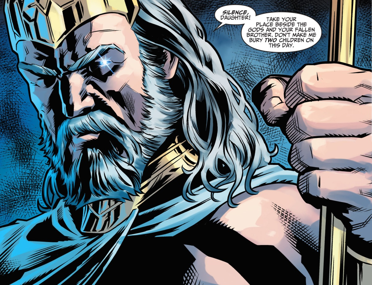 zeus forces superman to stand down comicnewbies