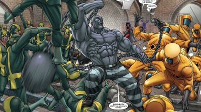 absorbing man vs hydra and aim