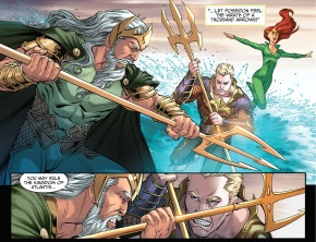aquaman and mera vs poseidon (injustice gods among us)