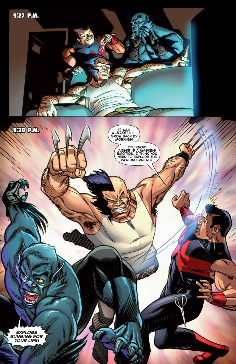 Beast And Wonder Man Gives Wolverine A Haircut Comicnewbies