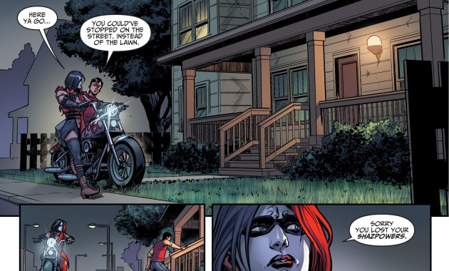 billy batson thinks harley quinn is a badass