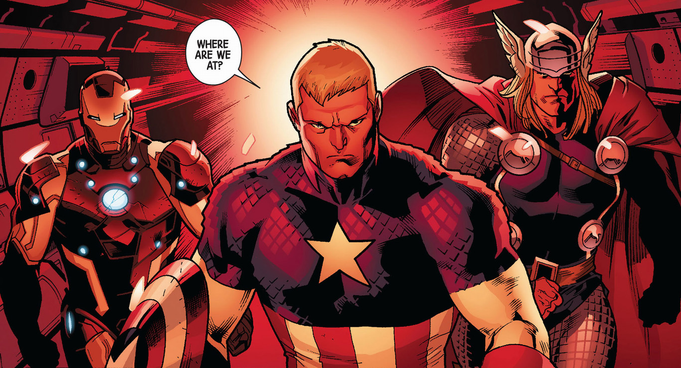 captain america iron man and thor fear itself comicnewbies