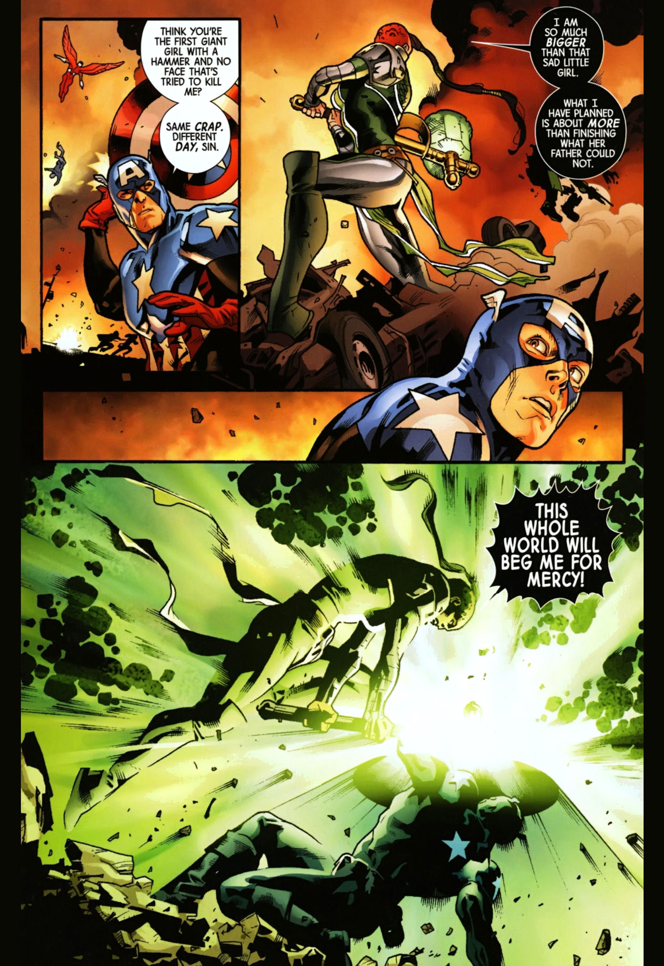 Captain America Vs Skadi Comicnewbies