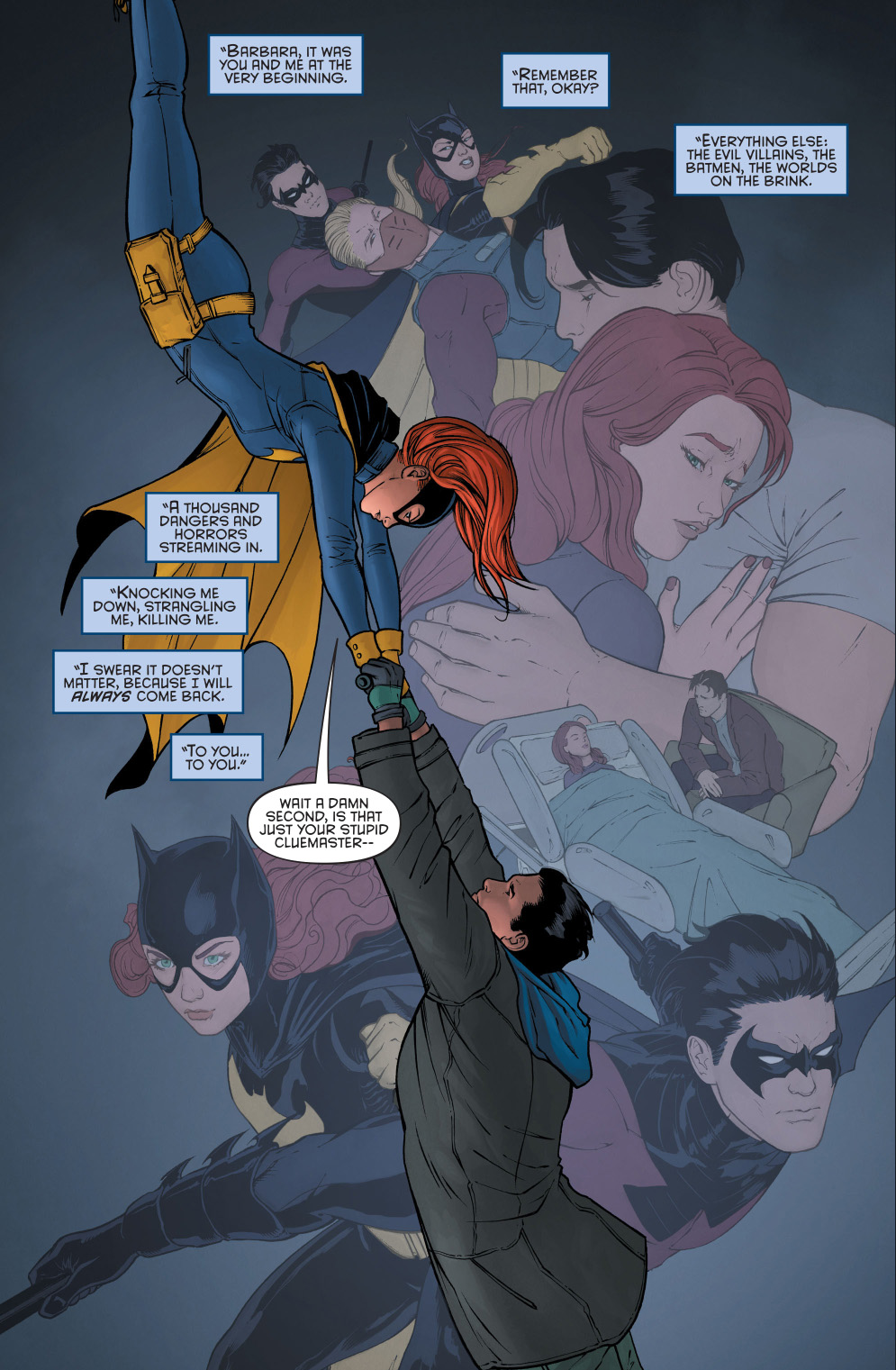 ... death to batgirl dick grayson meets bruce wayne with amnesia