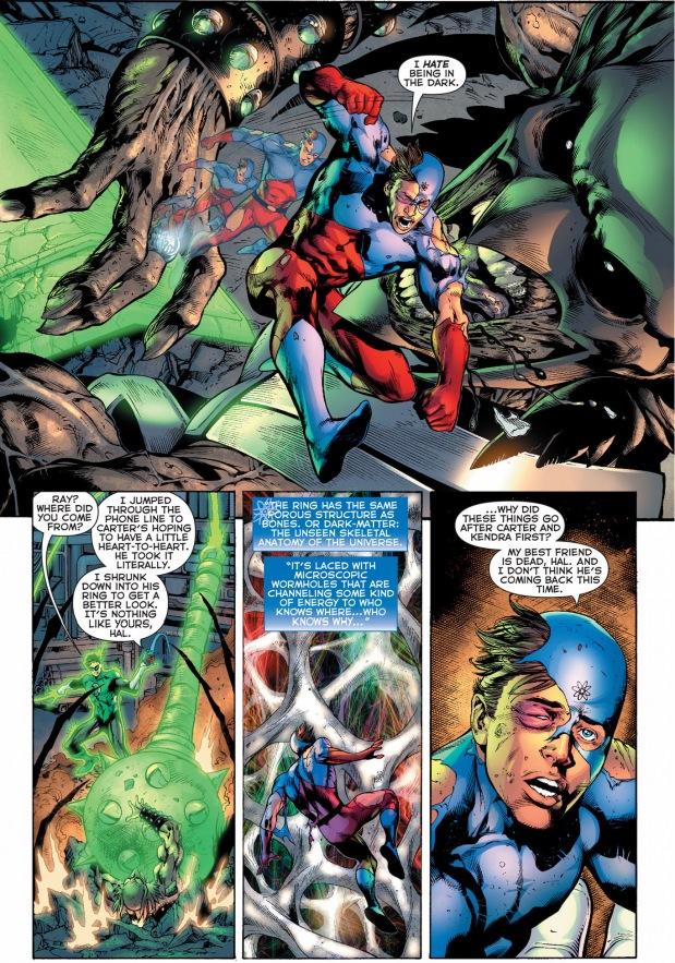 green lantern, the atom and the flash vs black lantern justice league 4