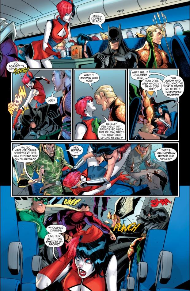 New 52 Hawkman Harley Quinn As A Stew...