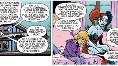 harley quinn helps a child grieve